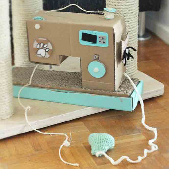 7 purrfect diy crafts for cats and their humans handmade for How to make a cat toy out of a box