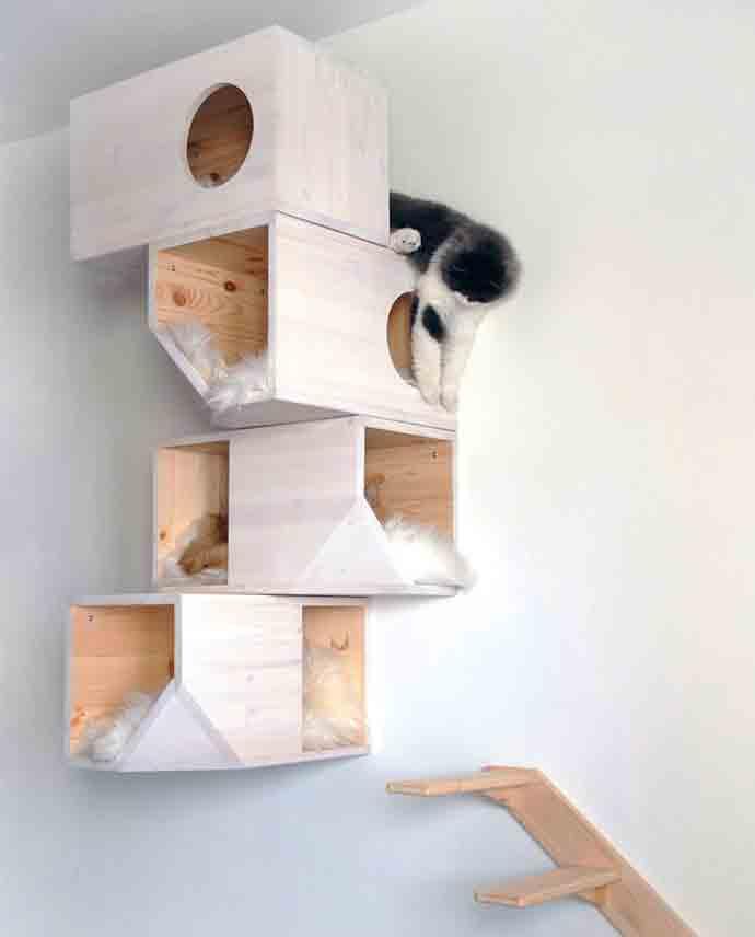 DIY Wooden Cat Tower