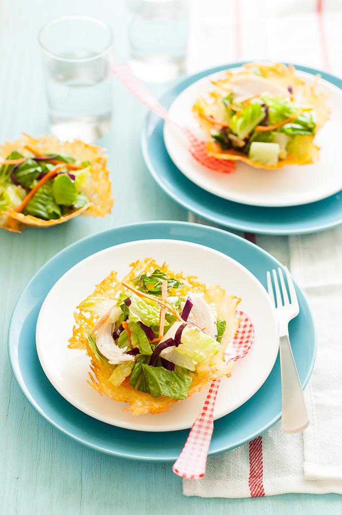 Edible Parmesan Cheese Bowls Recipe