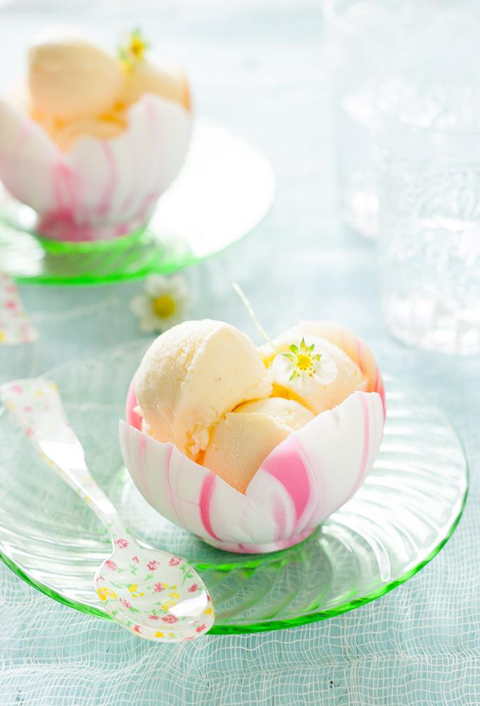 Edible Flower Petal White Chocolate Bowls