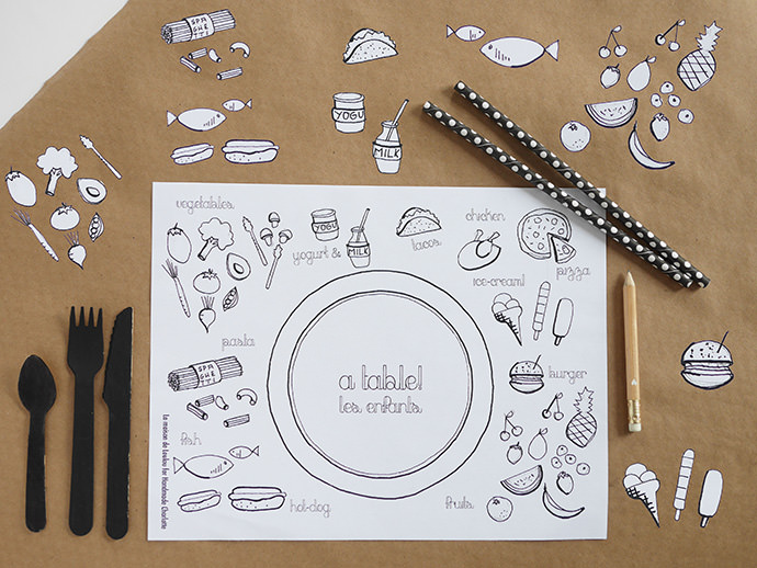 Diy Coloring Placemats Handmade Charlotte