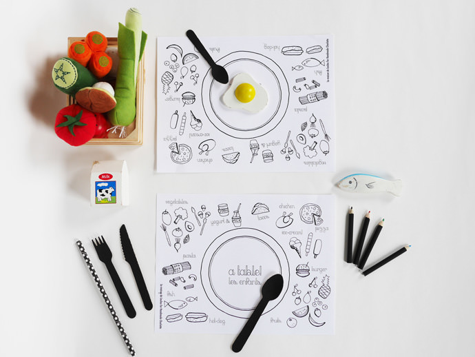DIY Coloring Placemats