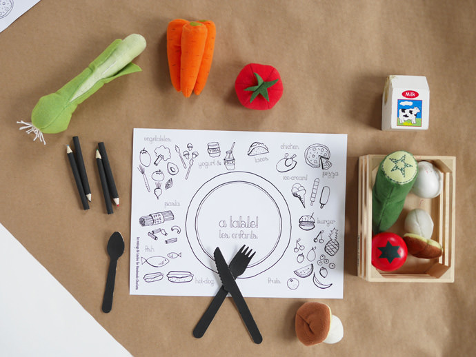 DIY Coloring Placemats | Handmade Charlotte
