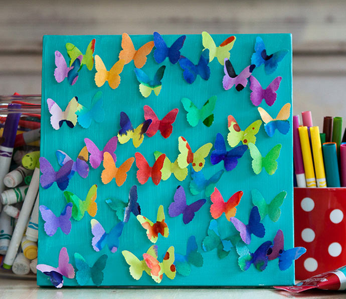 DIY Butterfly Canvas Craft for Kids