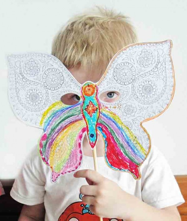DIY Butterfly Paper Printable Mask for Kids