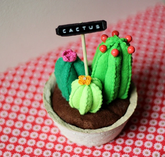 Easy-Sew DIY Felt Cactus Tutorial
