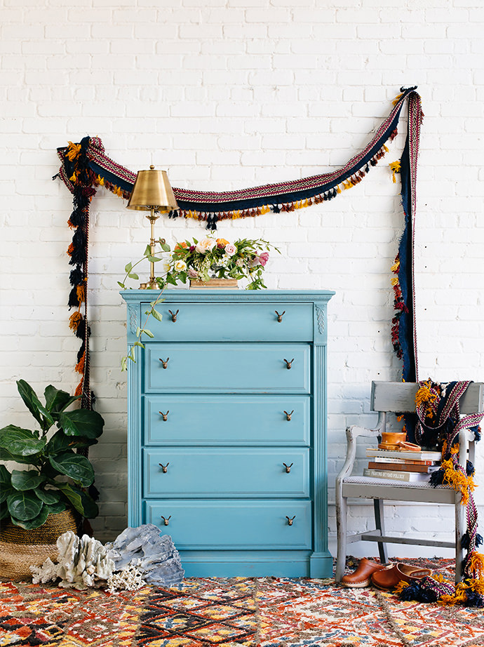 Vintage dresser painted with Waverly Chalk Paint