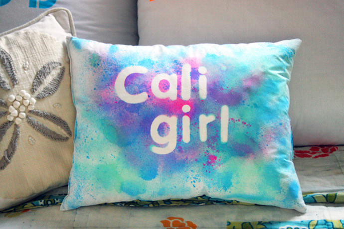 DIY Grafitti Relief Pillows