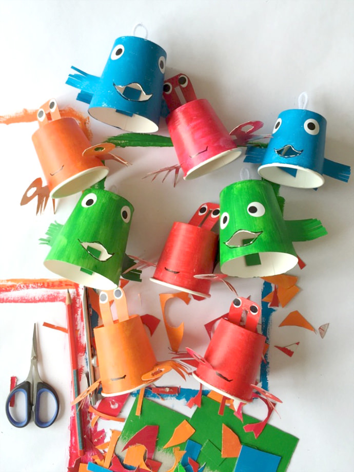paper cup crab craft for kids reel in the with a diy paper cup fishing 7859