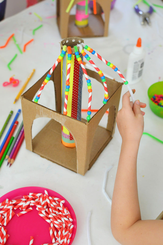 have big fun under the big top with colorful cardboard circus tents
