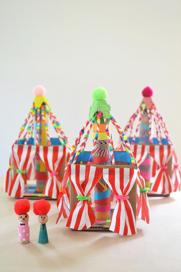 Diy Colorful Cardboard Circus Tents. Have Big Fun Under The Top With Colorful Cardboard Circus & Diy Circus Tent - Clublifeglobal.com