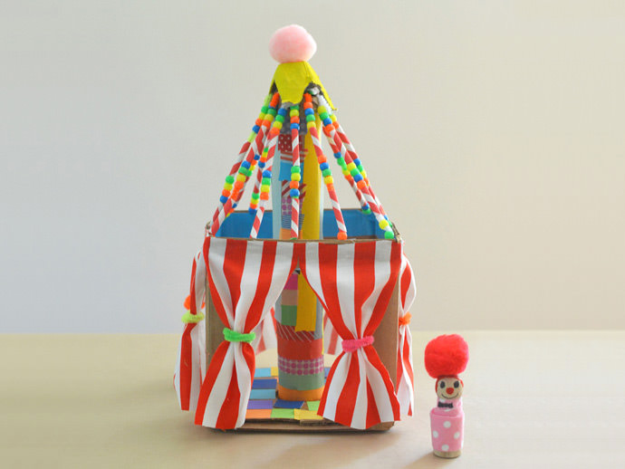 Have Big Fun Under The Top With Colorful Cardboard Circus & Diy Circus Tent - Clublifeglobal.com