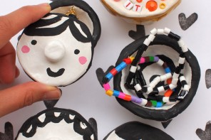 DIY Painted Mosaic Clay Pinch Pots for Kids