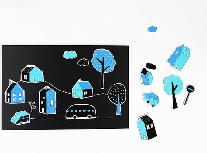 Build A City In Minutes With Printable Magnets
