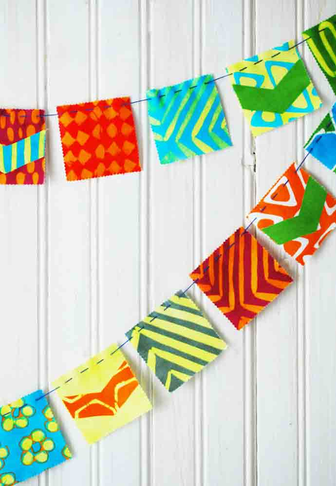 let your colors fly with mini fabric flags  u22c6 handmade