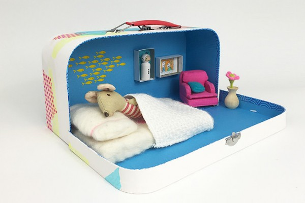 DIY Upcycled Suitcase Dollhouse for Kids