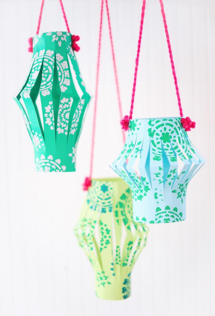 Handmade Charlotte Stencil Paper Lanterns