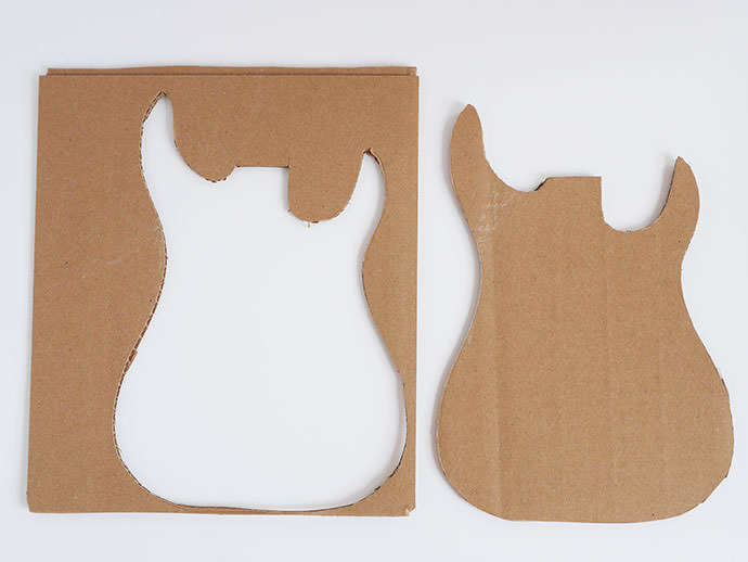 How to make a DIY Cardboard Guitar: Step 1