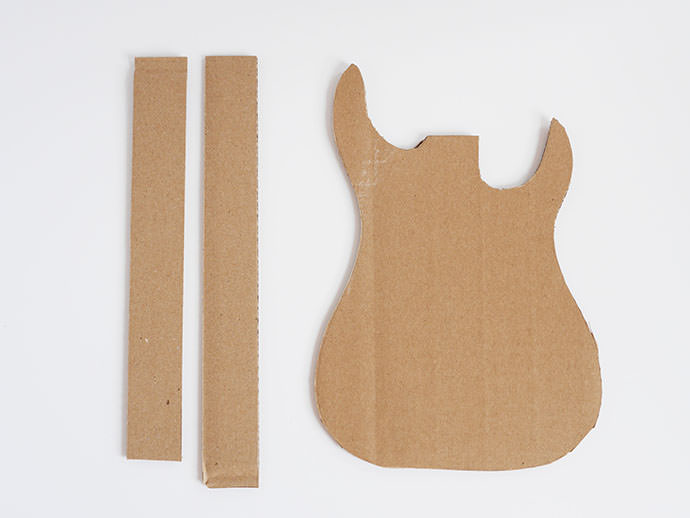 How to make a guitar for your rockstar handmade charlotte for Guitar cut out template