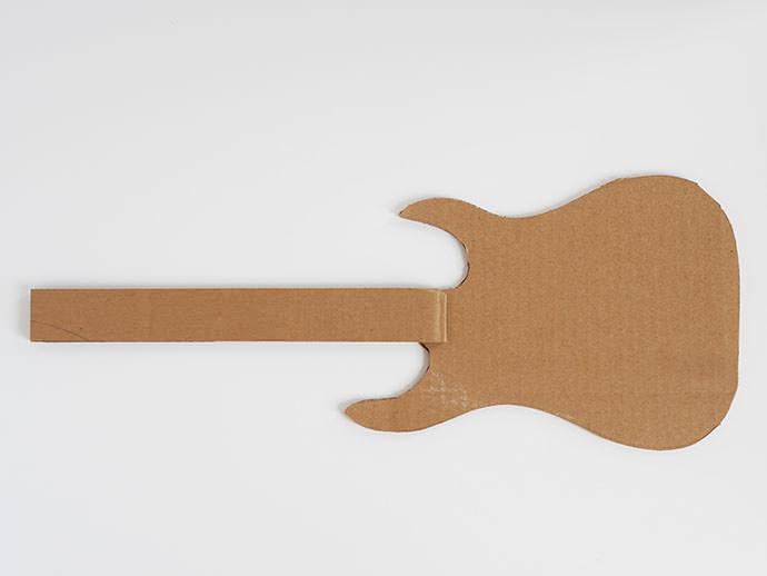 How to make a DIY Cardboard Guitar: Step 3