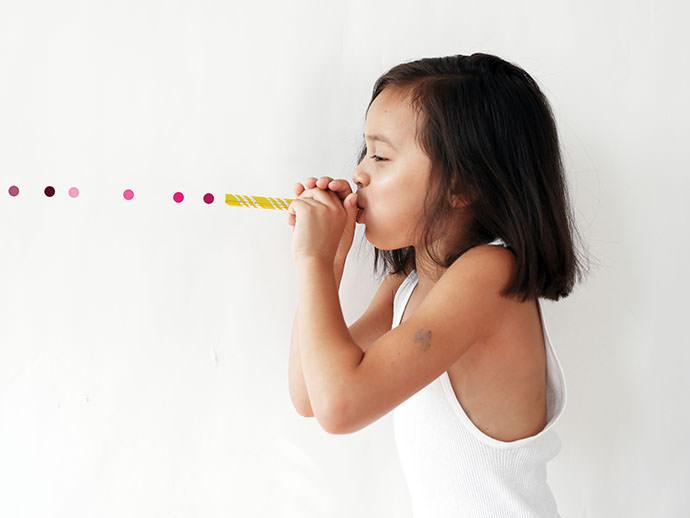 Blast Off With Rainbow Peashooter Party Horns Handmade