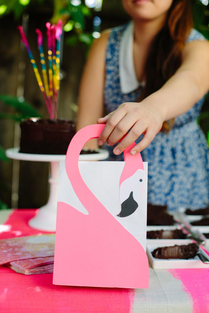 Flamingo Favor Bag DIY by Oh Happy Day