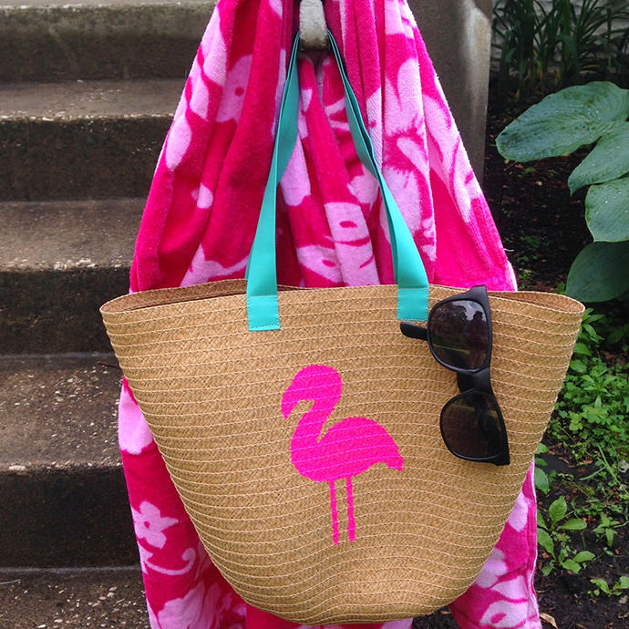 Flamingo Tote DIY by Weekend Pursuits