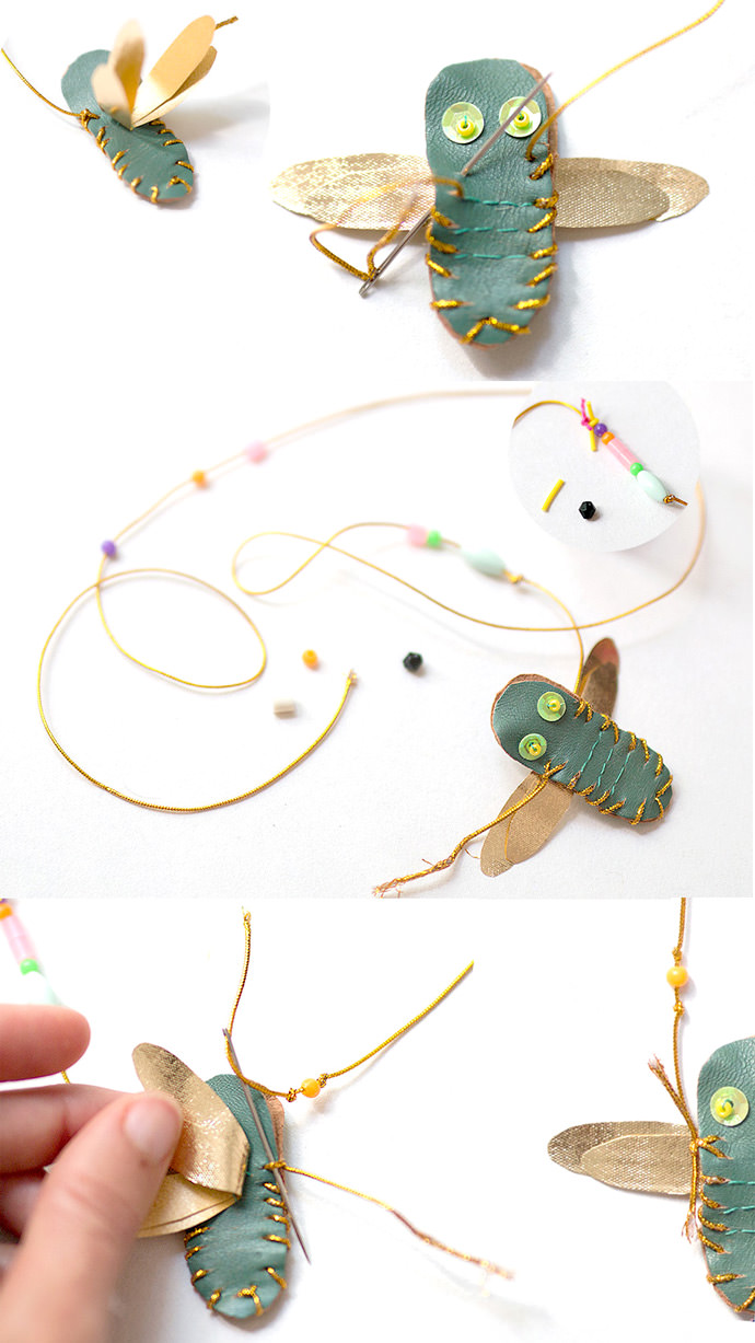 Make Your Own DIY Dragonfly Necklace: Step 3