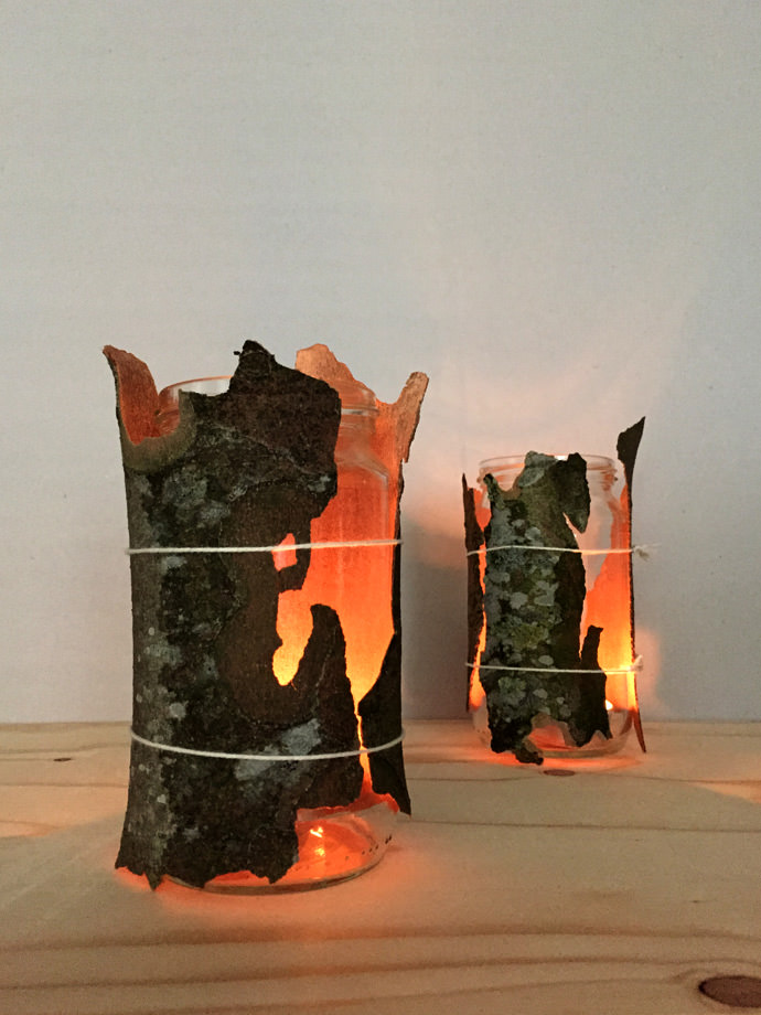 Diy Tree Bark Lanterns ⋆ Handmade Charlotte