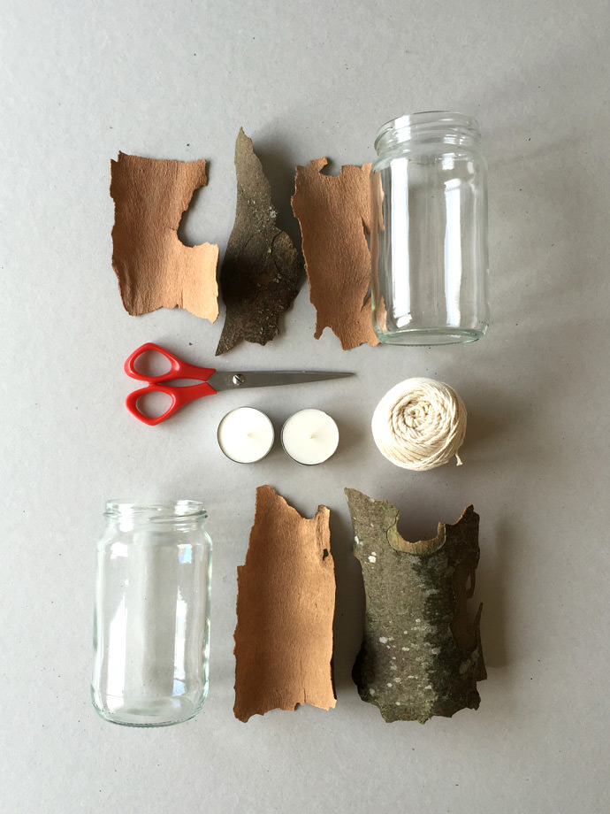 DIY Tree Bark Lanterns ⋆ Handmade Charlotte