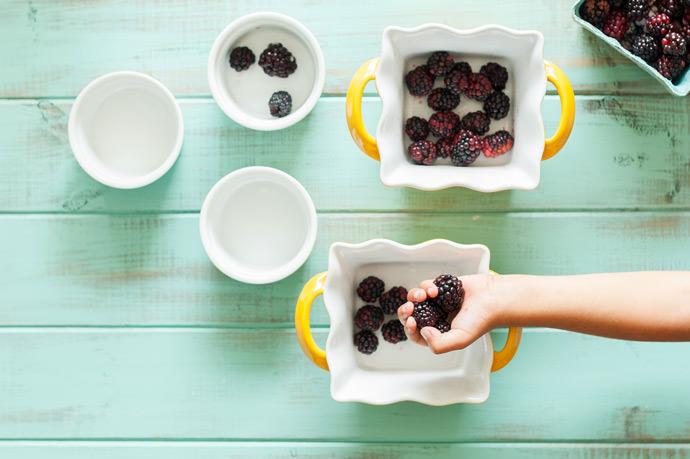 Blackberry Lime Clafoutis Recipe