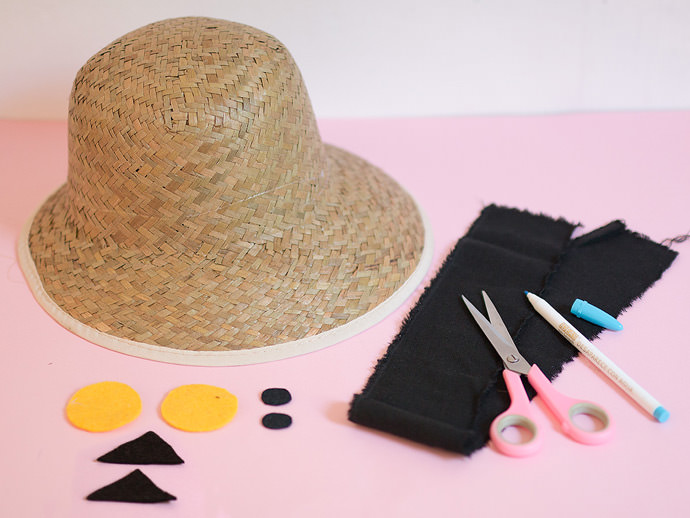 DIY Sunhats Step 1