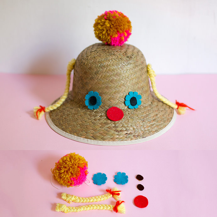 Blond Braids DIY Sunhat
