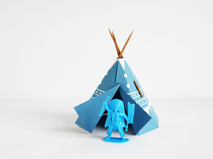 Printable Papercraft Teepee Village