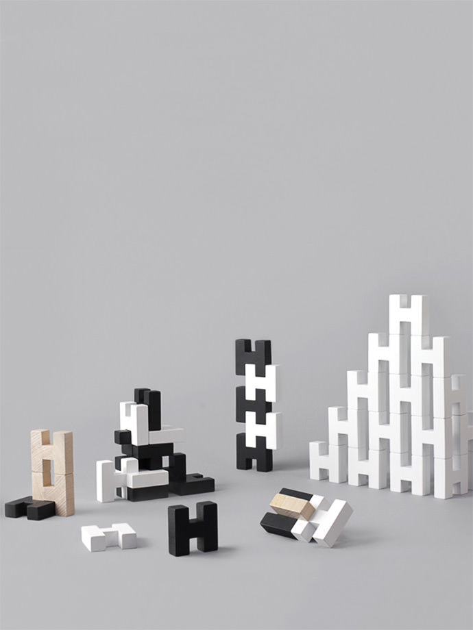 H BLOCK - modern wooden toy blocks for kids