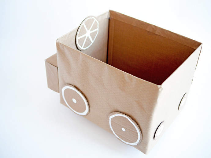 How To Paint Cardboard Box Car