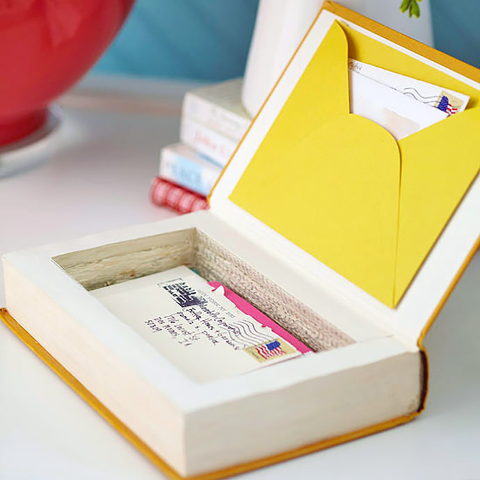 How To Make A Book Keepsake Box : Make your own back to school books handmade charlotte