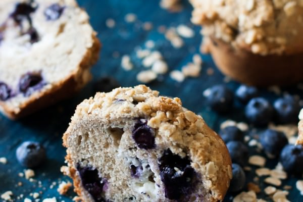 Ginormous Bakery-style Blueberry Cheesecake Muffins