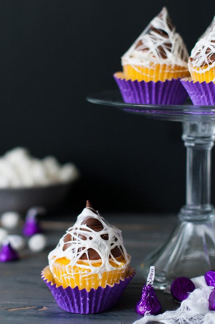 Spooky Marshmallow Web Cupcake Topper