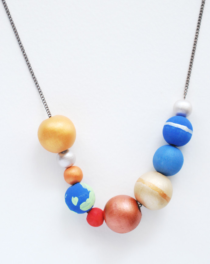 Image result for solar system necklace diy