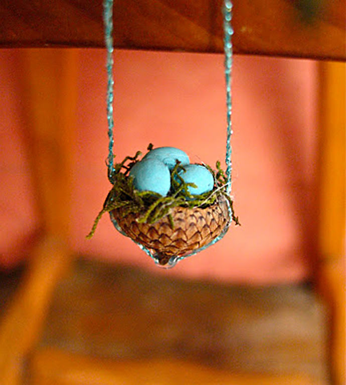 DIY Acorn Bird's Nest