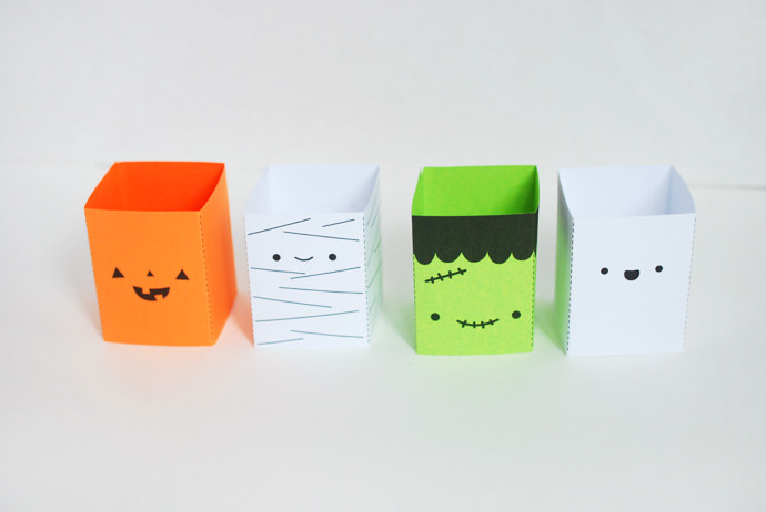 Printable Halloween Friends Stacking Game