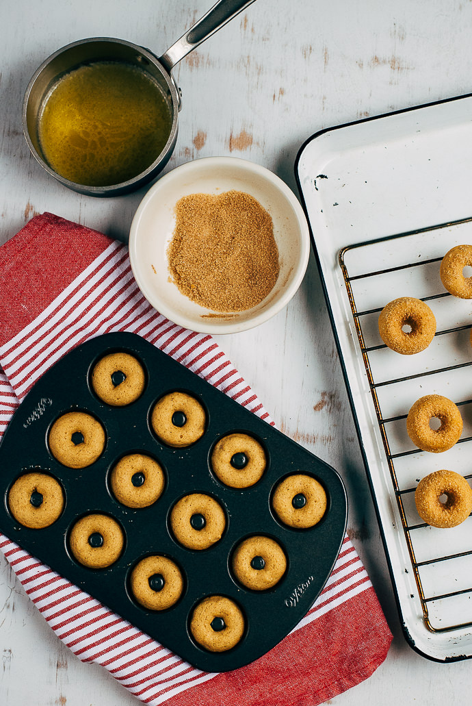 Baked Apple Cider Mini Donuts ⋆ Handmade Charlotte