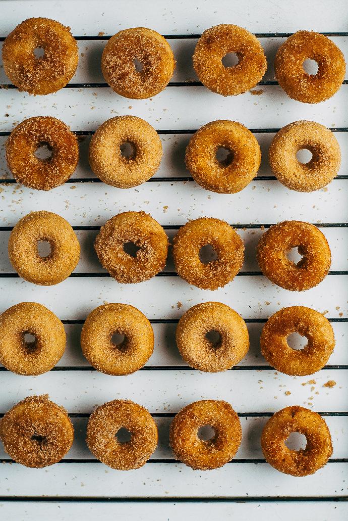 Recipe: Baked Apple Cider Mini Donuts
