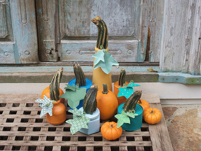 Chalk Paint Up-cycled Pumpkin