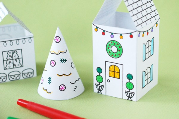 Coloring Christmas Village