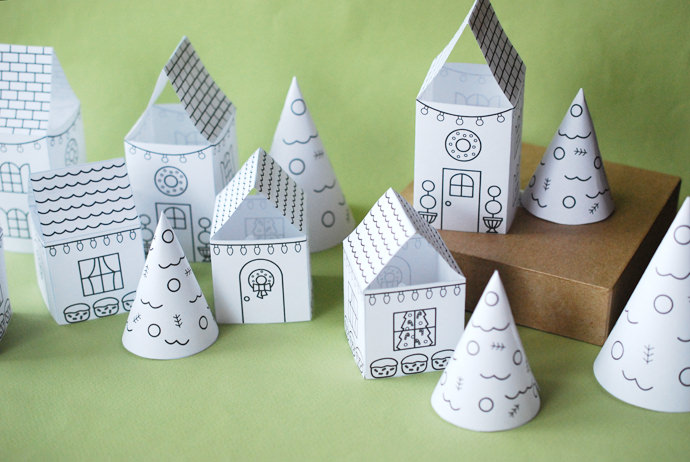 Create Christmas Memories With A Printable Village
