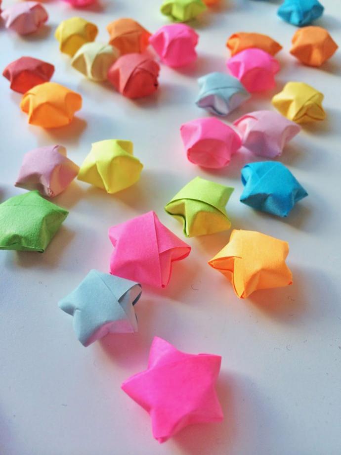 Let the stars shine in these diys handmade charlotte for Diy lucky stars