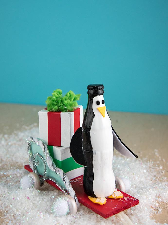Diy Pull Along Bottle Penguins Handmade Charlotte