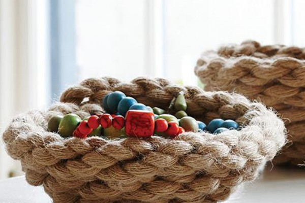 Rope Bowl, tutorial via Sweet Paul Magazine.